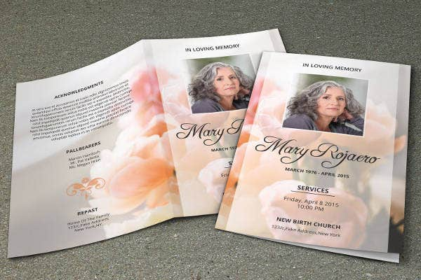 Funeral Program Template - 23+ Free Word, PDF, PSD Format Download ...