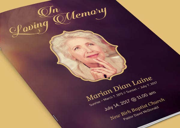 Funeral Program Template Example