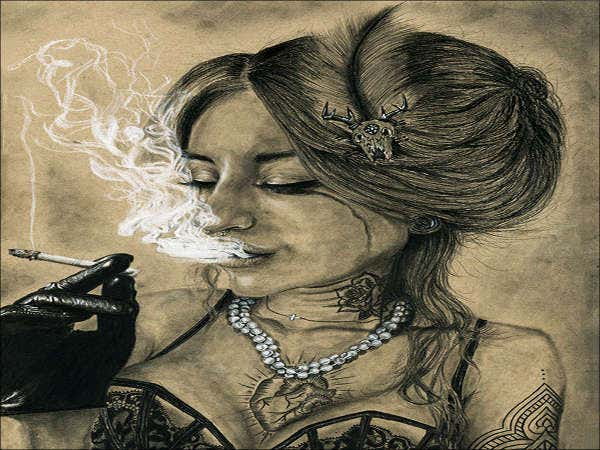beautiful-girl-smoke-drawing