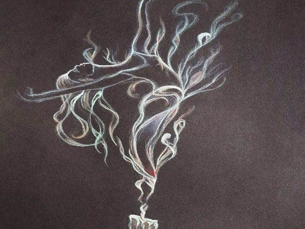 art-drawing-ballerina-smoke-drawing