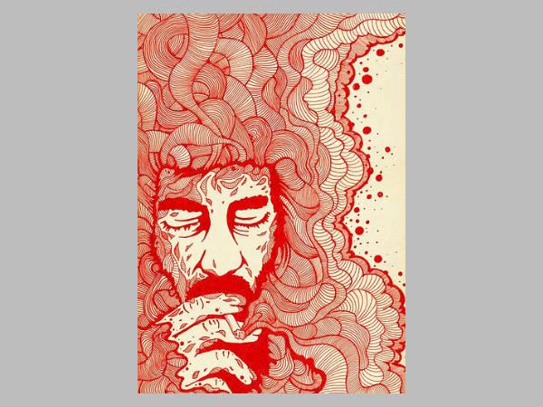 creative design smoke drawing