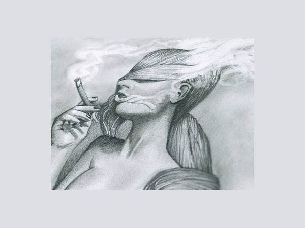 woman-smoking-drawing