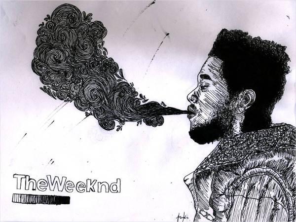weekend smoke drawing
