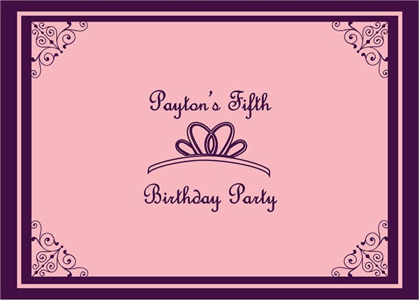 Birthday Princess Invitation