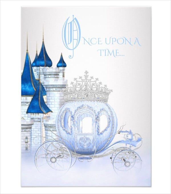 Cinderella Princess Birthday Card