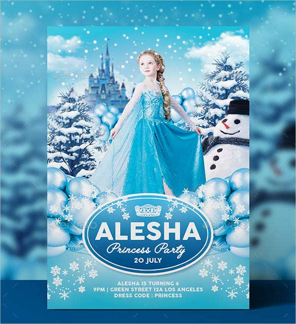 Ice Princess Party Invitation