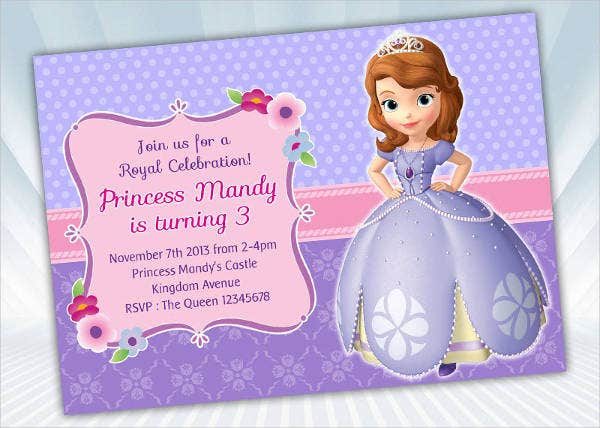 Princess Sofia Invitation