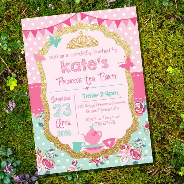 17 princess invitations free psd vector aieps format download princess tea party invitation stopboris Choice Image