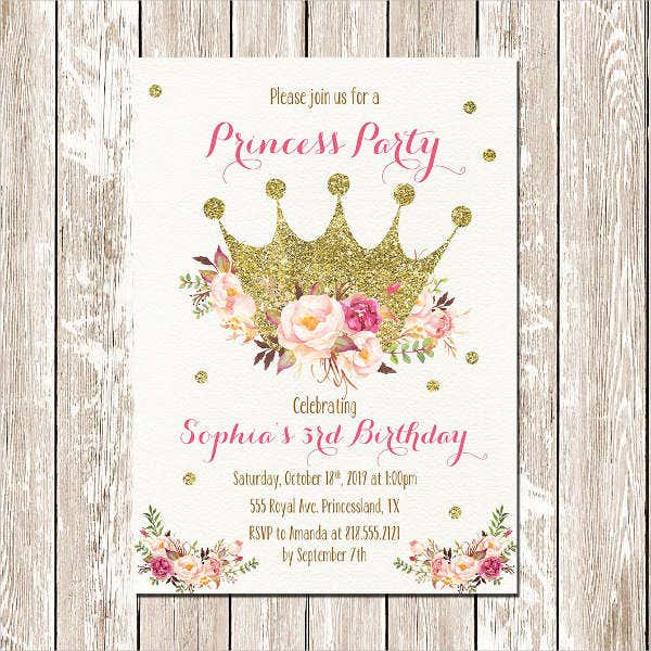 Printable Princess Invitation