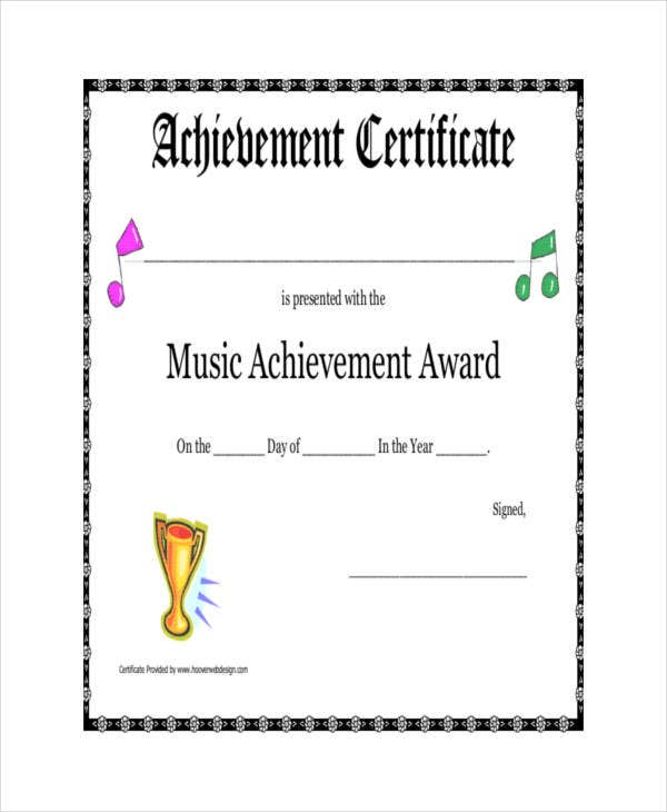 Award certificate template 23 free word pdf psd format download music award certificate template cheaphphosting Images