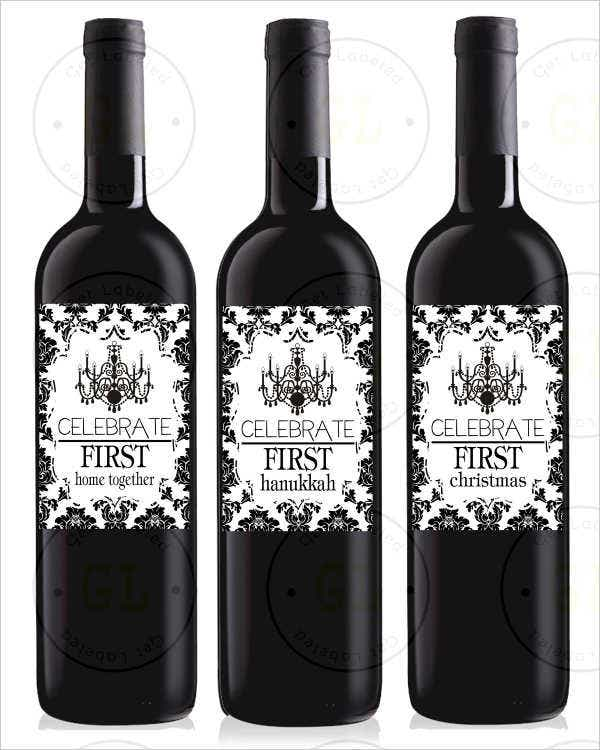 Couple's Milestone Wine Label