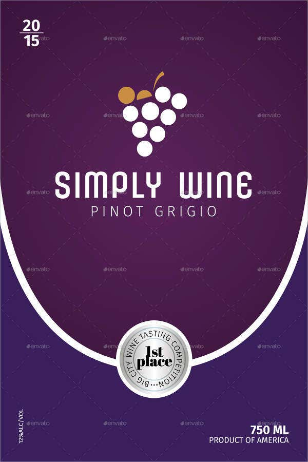 Simple Wine Label Template