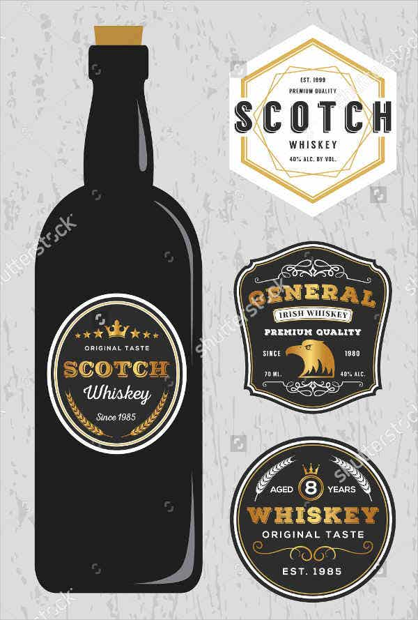 Whiskey Brands Label Design Template
