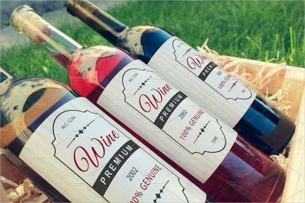 Wine Bottle Label Mock-up