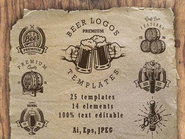 set-of-beer-logos-templates