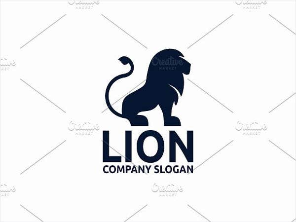 business design lion logo template