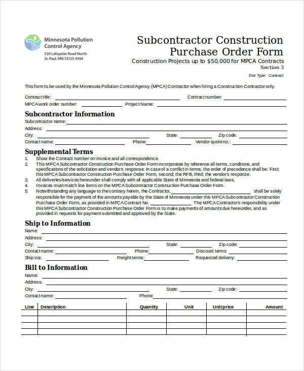 subcontractor-construction-purchase-order-form