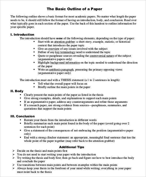 12 page research paper outline How to write a science fair project research paper includes key areas for research and sample papers.