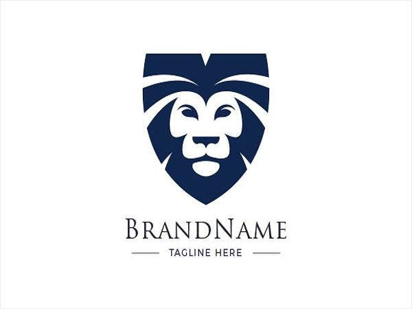 brand designed lion logo template