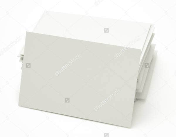 Twisted Stack of Blank Business Card