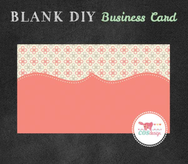 Diy Blank Business Card Template