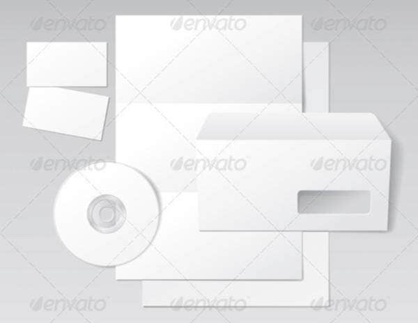 Blank Letter, Envelope, Business Cards and CD