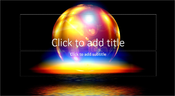 Colorful Sun PowerPoint Template