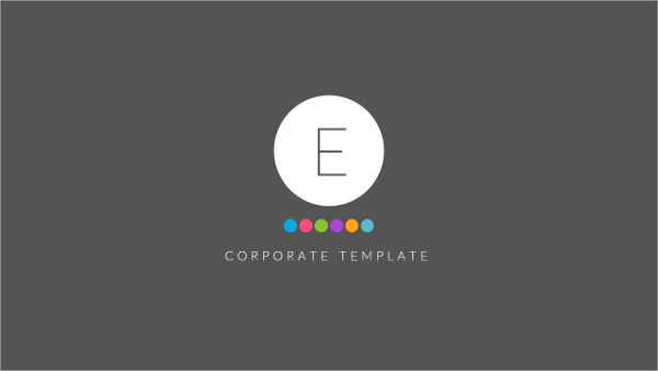 E PowerPoint Template