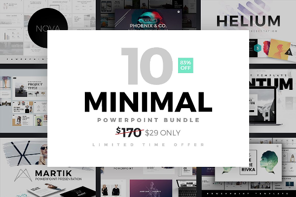 Minimal PowerPoint Template Bundle