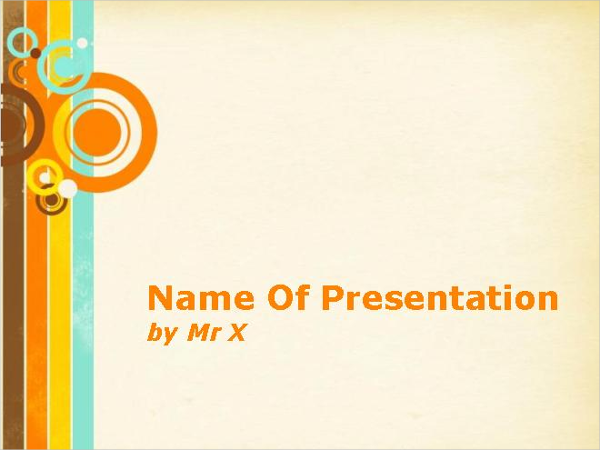 Vintage Circles Background Powerpoint Template