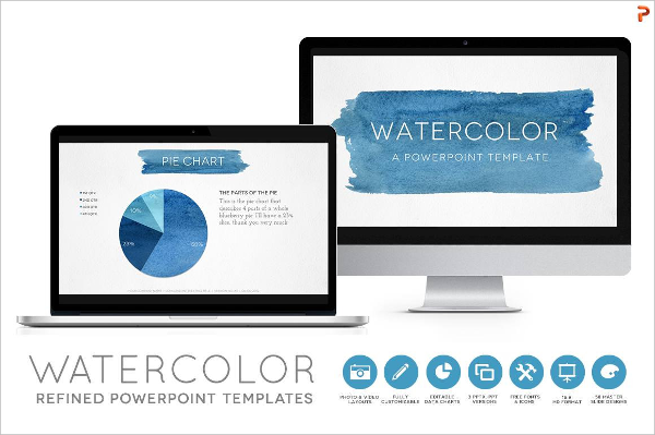Watercolor Powerpoint Templates