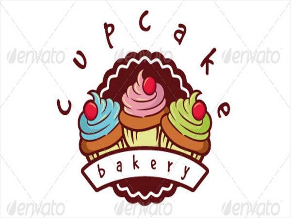 cupcake bakery logo template
