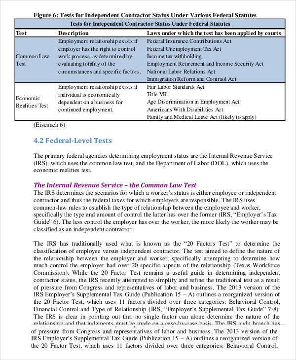 Independent Contractor Agreement   Free Sample Example Format