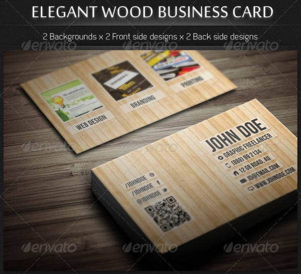 17 best wood business card designs psd eps vector format elegant wood business card template cheaphphosting Images