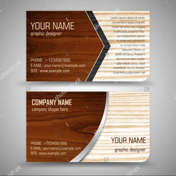 17 best wood business card designs psd eps vector format creative business card reheart Choice Image