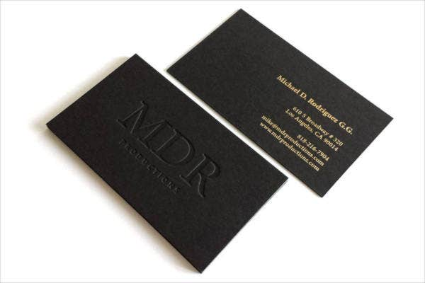 Printable Black Business Card