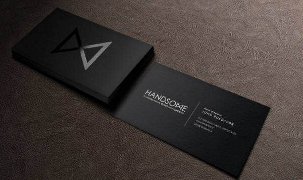 23 Black Business Cards Free Premium Templates