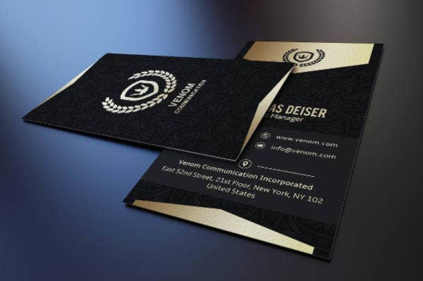 Corporate Black Business Card