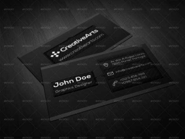 23 black business cards free premium templates cool black business card reheart Choice Image