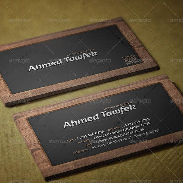 Wood Board Business Card