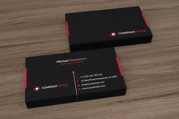 Black Red Corporate Business Card