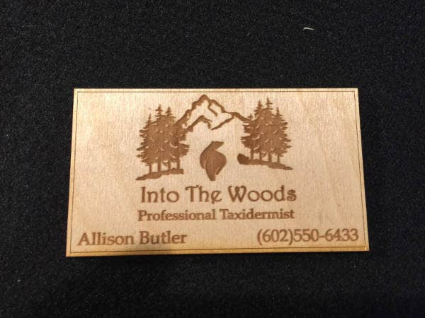 Real Wood Engraved Business Card