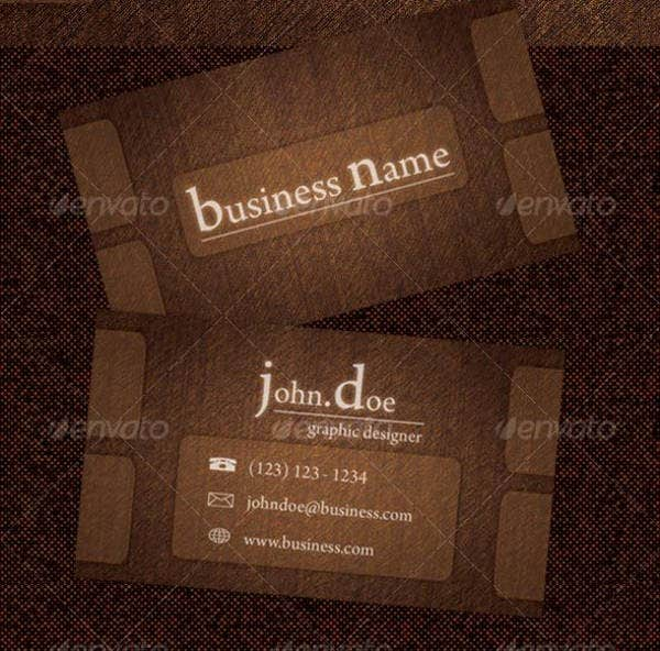Rough Wood Business Card