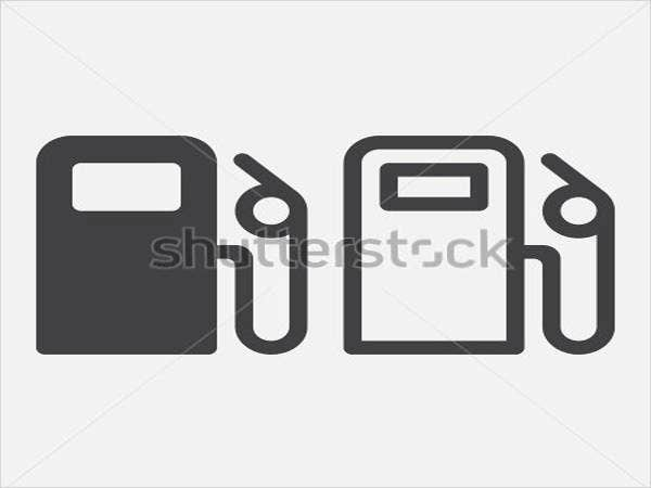 gas station vector logo