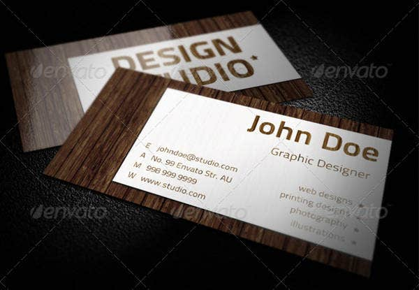 Luxury Wood Business Card