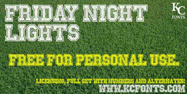 Friday Night Lights Font