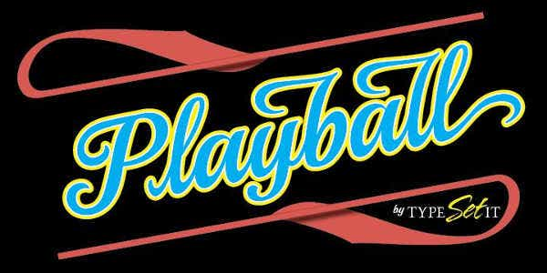 Play Ball Font