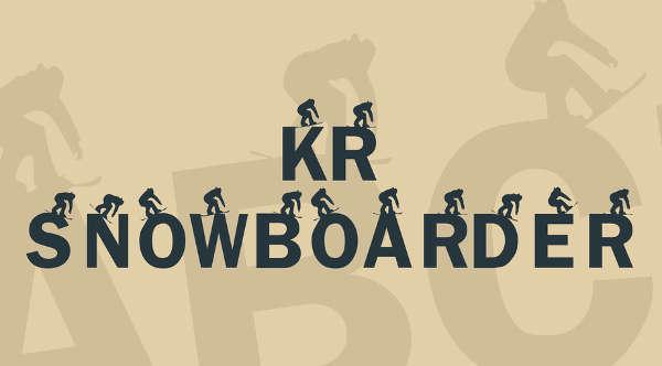 Snowboarder Font