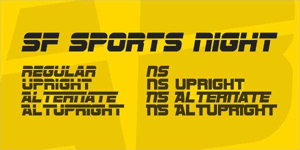 Sports Night Font Family