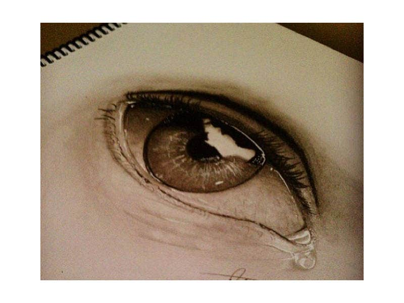 Optical Illusion Drawing of Eye
